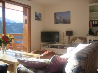 Another view of the living room with beautiful views