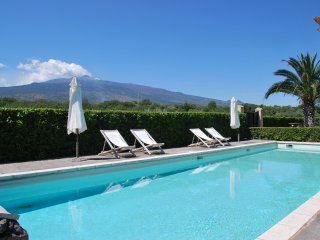 Deluxe Villa BARONI:relax amid vineyards, olive trees and stunning views to Etna, Castiglione di Sicilia