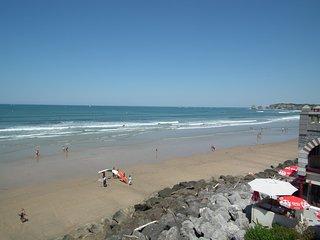 Appart situe directement sur la plage d'Hendaye