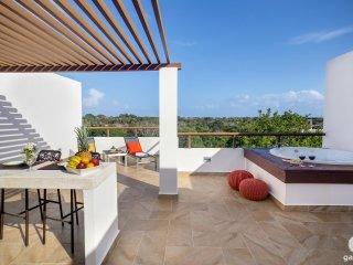Penthouse TAO Inspired - Bahia Principe  - 2 BED/2 BATH, Akumal