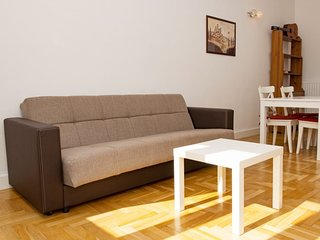Strauss apartment in V Belvaros with WiFi & lift.