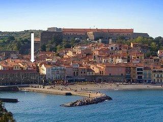 Vieux Collioure, 2 pieces de charme, classe 3*, WIFI et climatisation