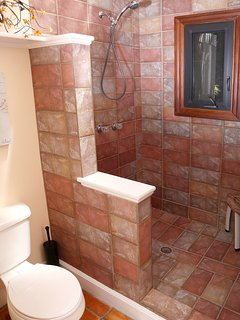 Shower in the upper bathroom