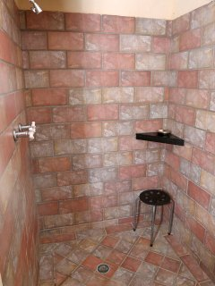 Lower bathroom shower