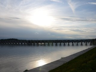 Water front & beautiful sunset views in Harrisburg - family friendly downtown