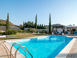 Beautiful private pool villa Olympos near Anthony Quinn bay
