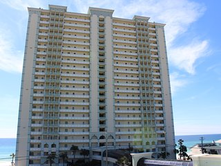 Celadon Resort; 23 Stories and right on the beach.