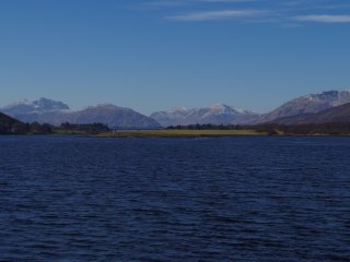 Breathtaking views from the banks of Loch Leven, just a two-minute walk