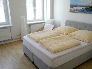 Doppelbett der Ferienwohnung 2