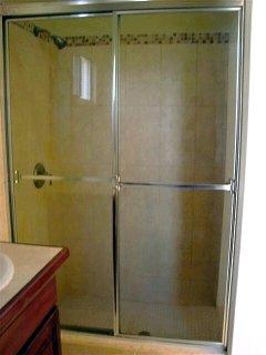 One of three showers