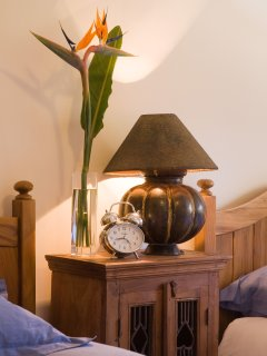 Twin Bedroom Lamp and Clock