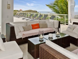 Modern ocean view villa Vahiti 6 bedrooms for rent in St Barts, Gustavia