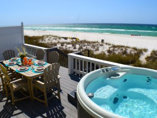 A View to Sea - Fabulous Beachfront Home! West End! Sleeps 14! Hot Tub!, Panama City Beach