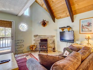 Spacious, updated townhouse with a deck, shared hot tub, and sauna