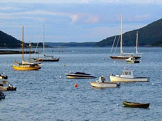Waterfront studio w/ lovely harbor views - close to hiking, boating & shops!