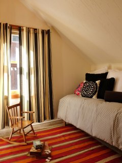 The annex room offers a twin bed, perfect for the little ones!