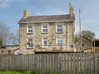 The Farmhouse, detached farmhouse, countryside views, private hot tub, decked, Llandysul
