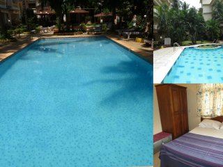 39) 1 Bed Apartment CDB Resort Calangute  & WiFi sleeps 4