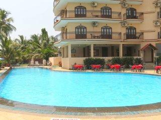 01) Private Ground Floor 1 Bed Apart Close to the Sea, Baga 4* Nasri Resort