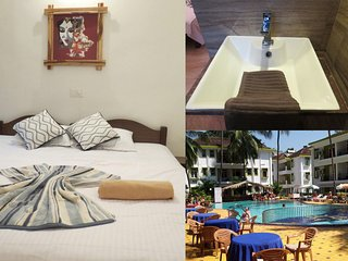 52) Private Studio in Alor Grande Resort Candolim + WiFi