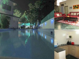 02) Spacious Private 2 Bed Apartment Nagoa Sleeps 4 & Fibre Optic Broadband