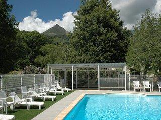 Duplex avec piscine dans Grange auvergnate renovee : pour des vacances au vert !