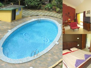 06) Spacious Penthouse 3 Bedroom Apartment Sleeps 7 & Fibre Optic Broadband, Arpora