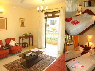 33) Ground Floor Spacious 2 bedroom Apartment, Regal Palms, Candolim & WiFi