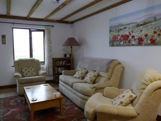 Comfortable seating for five people in one of our two bedroom cottages
