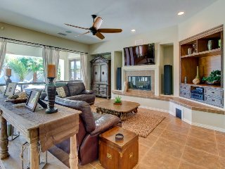 Upscale home w/ pool, hot tub & patio - walk to Coachella/Stagecoach, 1 dog OK!