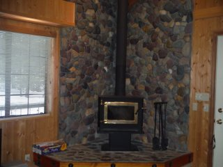 Wood stove Electric heat