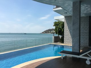 Front beach design and nice Villa private pool and private beach full services, Vung Tau