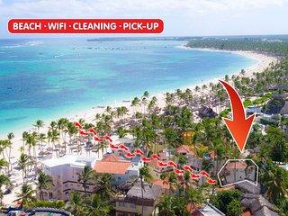 Beach Villa La Perla 6 guests WiFi Cleaning