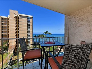This ocean front property offers air conditioned comfort  Royal Kahana #617