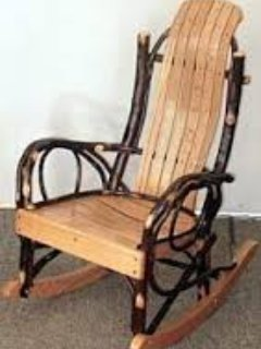 Traditional Amish willow chair