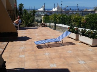 1 bedroom ground floor Costa Adeje, UK TV, WiFi, private terrace and garden