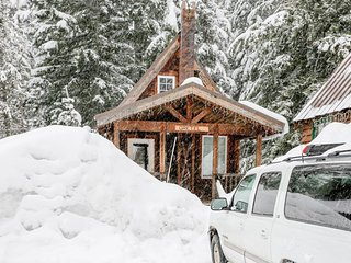 Intimate fairytale cabin w/wood stove, near ski resorts - dogs OK!