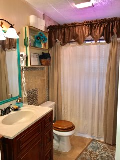 Recently renovated upstairs bathroom