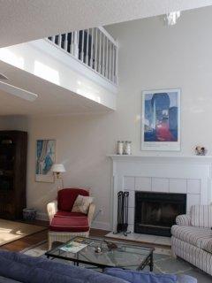 Upper Loft with Queen Sleeper Sofa and wet bar