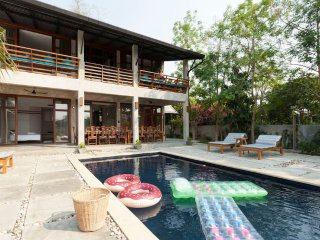 2 RiverFront Pool Villas Side by Side; accommodates 16+!, Don Kaeo