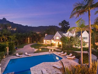Majestic Beverly Hills Polo Estate with Tennis, Theater Room, Pool, and Hot Tub