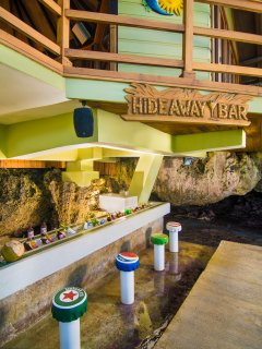 Need even more privacy? Hang out in our Hideaway Bar - tucked away below the pool