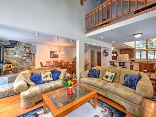 Vaulted ceilings and lots of natural light welcome you into the family room.