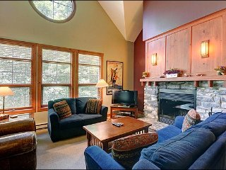 2BR Facing Village/Hill, Free Shuttle, Common Hot Tub and Sauna (215688)