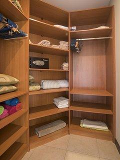 Large walk in closet, master bedroom