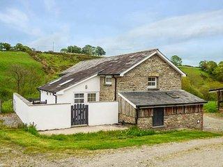 TY FFERM, semi-detached farm building conversion, WiFi, enclosed courtyard, near