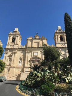 The famous church of St Laurence in Birgu
