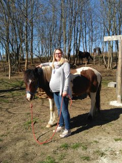 Me with Gipsy :-) New opened horse riding center Rakovica, 10min with car from our home.