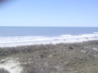 Dunes and ocean.