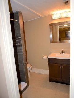 Fully remodeled bathroom.